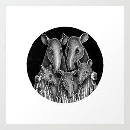 Tapir Family | Illustration Art Print