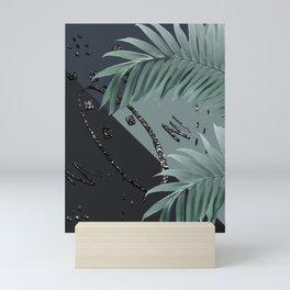 Night Palms Cali Vibes Abstract Glitter Glam #1 #tropical #decor #art #society6 Mini Art Print