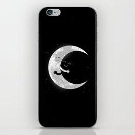 Moon Hug iPhone Skin
