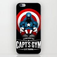 gym iPhone & iPod Skins featuring Capt's Gym by Corey Courts