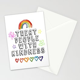 TREAT PEOPLE WITH KINDNESS - PRIDE EDITION Stationery Cards