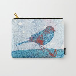 Blue Bird in Winter Carry-All Pouch