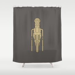 Hipsterbot Shower Curtain