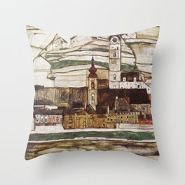 Egon Schiele - Stone on the Danube Throw Pillow