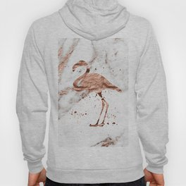 Rose gold marble - flamingo Hoody