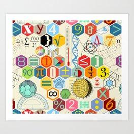Math in color Art Print