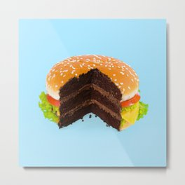 HAMBURGER CAKE Metal Print