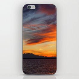 marvelous sunset over the sea iPhone Skin