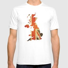 Union Jack Map - Olympics London 2012 MEDIUM White Mens Fitted Tee