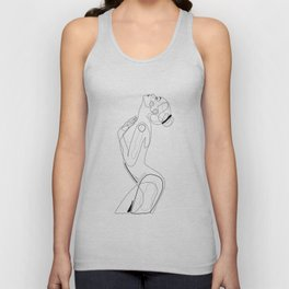 Naked Profile Lines Unisex Tank Top