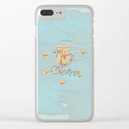 Merry Christmas Collage Clear iPhone Case