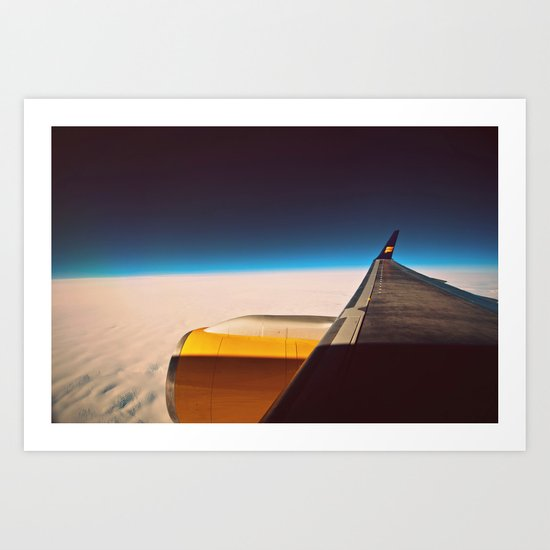 Travel. Art Print