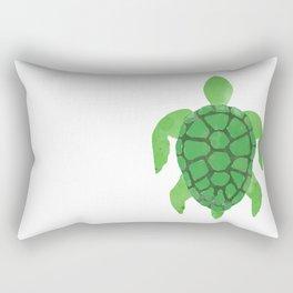 Watercolor Sea Turtle Rectangular Pillow