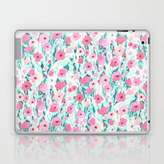 Flower Field Pink Mint Laptop & iPad Skin