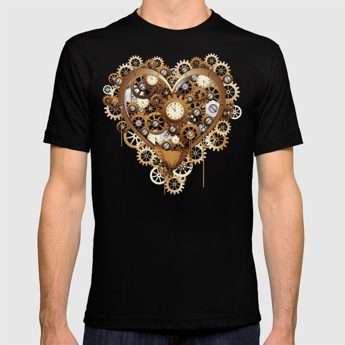 b0f60c30549e4 Compass in the heart steampunk tattoo, geometric style. Symbol of travel  and love vector. Surreal anatomical heart boho style, t-shirt design.  adventure, .