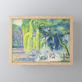 """Henri-Edmond Cross """"Famille De Cygnes"""" Framed Mini Art Print"""