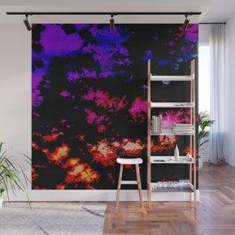 Dark Goth Galactic Rainbow Splatter Wall Mural