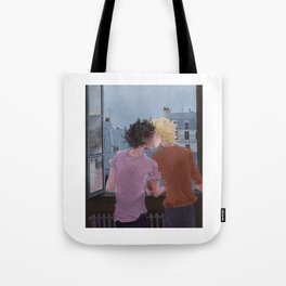 Enjolras, Grantaire and twilight over Paris Tote Bag