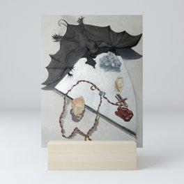 Bat with Rosary and Crystals Mini Art Print