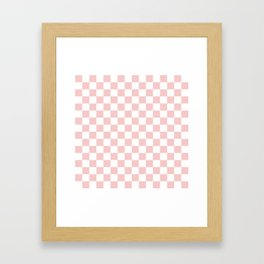 Gingham Pink Blush Rose Quartz Checked Pattern Framed Art Print