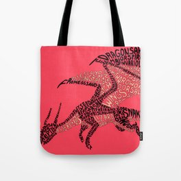 Draconic typography Tote Bag