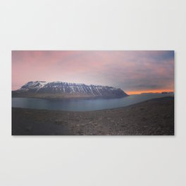 The sun sets in the West Fjords Canvas Print