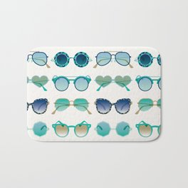 Sunglasses Collection – Turquoise & Navy Palette Bath Mat