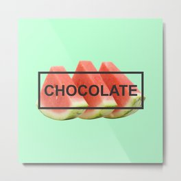 Fit Chocolate Metal Print