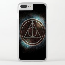 DEATHLY HALLOW POTTER Clear iPhone Case