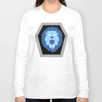 hologram Long Sleeve T-shirts featuring Visionaries Lion by Eden Nur Madinah