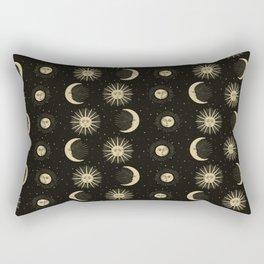 The Sun, The Moon, The Crescent of Moon Rectangular Pillow