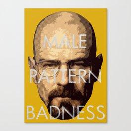 Male Pattern Badness Canvas Print