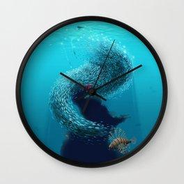 coral shelter Wall Clock