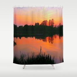 The beauty of a Sunset.  Shower Curtain