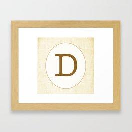 Vintage Letter Series - D Framed Art Print