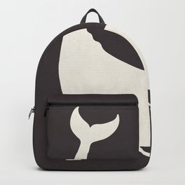 Moby Dick, Herman Melville, minimal book cover, classic novel, the whale, sea adventures Backpack