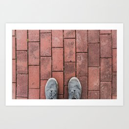 Third Person Brick Perspective Art Print