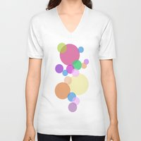 bubble V-neck T-shirts featuring Bubble by Angela Capacchione