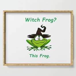 Witch Frog?  This Frog. Serving Tray
