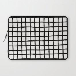 Strokes Grid - Black on Off White Laptop Sleeve