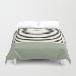 Sage Green x Stripes Duvet Cover