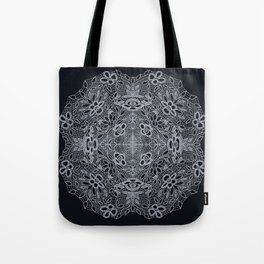 Crocheted Lace Mandala Tote Bag