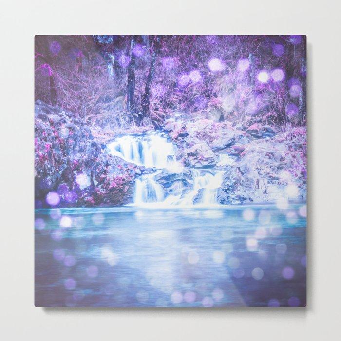 Mermaid Waterfall Metal Print