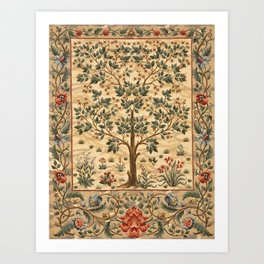 "William Morris ""Tree of life"" 3. Kunstdrucke"
