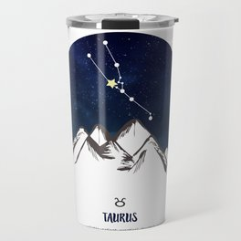 Astrology Taurus Zodiac Horoscope Constellation Star Sign Watercolor Poster Wall Art Travel Mug