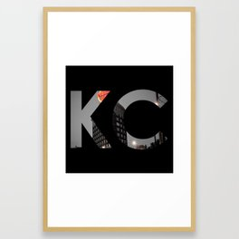 Kansas City - Western Auto KC Print Framed Art Print