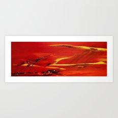 Flyingin in the wind Art Print