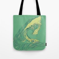 huebucket Tote Bags featuring Escape by Huebucket