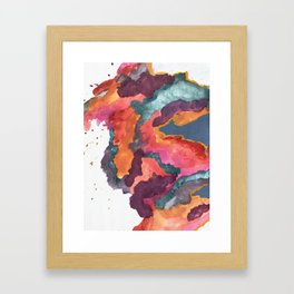 Carnival: a vibrant mixed media piece inspired by New Orleans Framed Art Print
