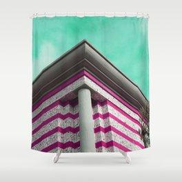 Purple futuristic cornice Shower Curtain